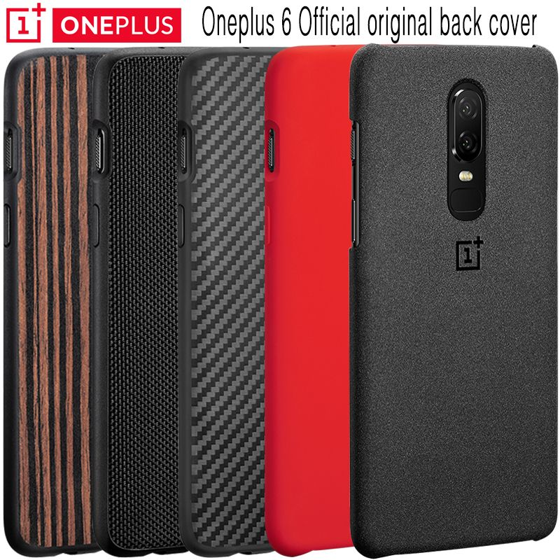 Oneplus 6 Case 100% Original Official Sandstone Silicon Nylon Karbon Ebony One Plus 6 Bumper Case Oneplus6 Protective Back Cover