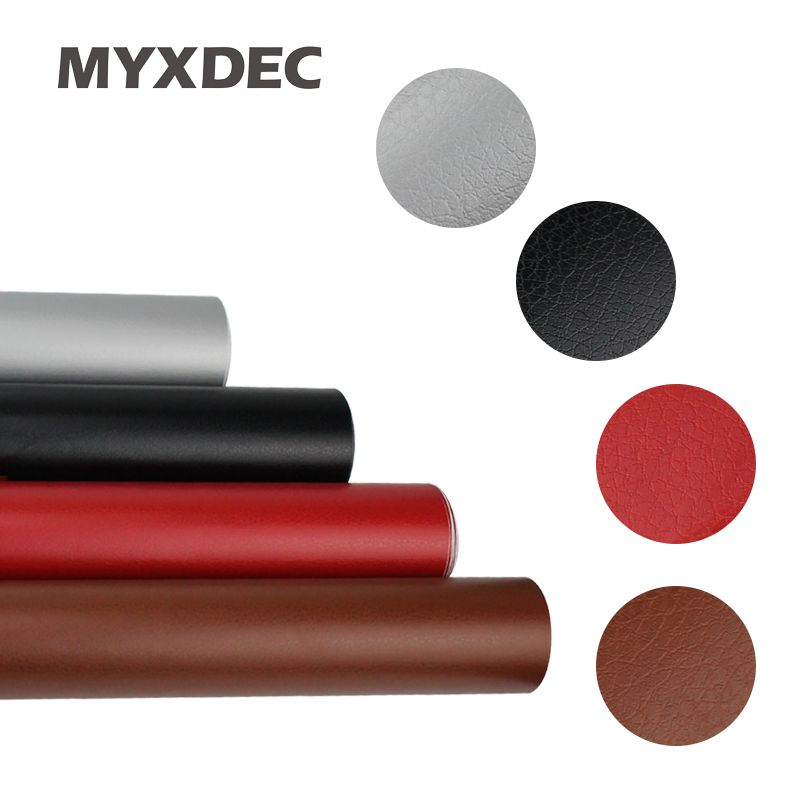 Car Decoration Sticker 152*30cm Leather Pattern PVC Adhesive Vinyl Film Stickers With Air Free Bubble Black Brown Red Silver