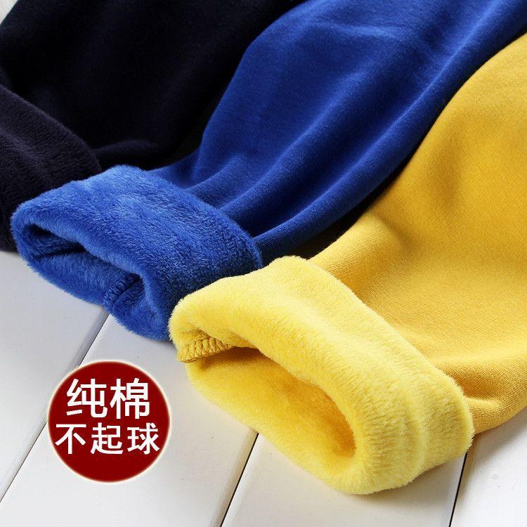 Nouveaux leggings en velours épais pour enfants, commerce extérieur, enfants, pas de cachemire inversé, pantalons chauds pour garçons et filles