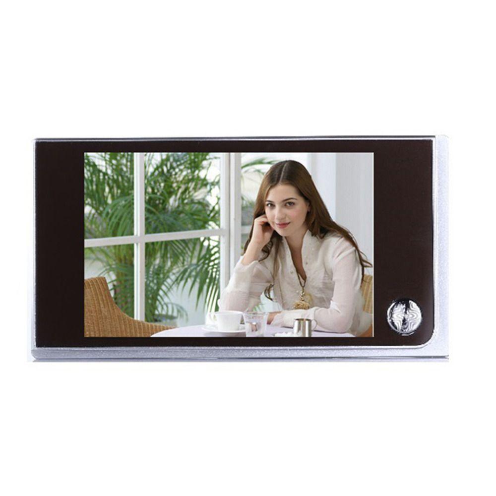 Главная Безопасность 3.5 дюймов ЖК-дисплей двери просмотра цифровых TFT памяти дверной глазок Vedio глаз 4 х ААА Батареи питание двери Камера