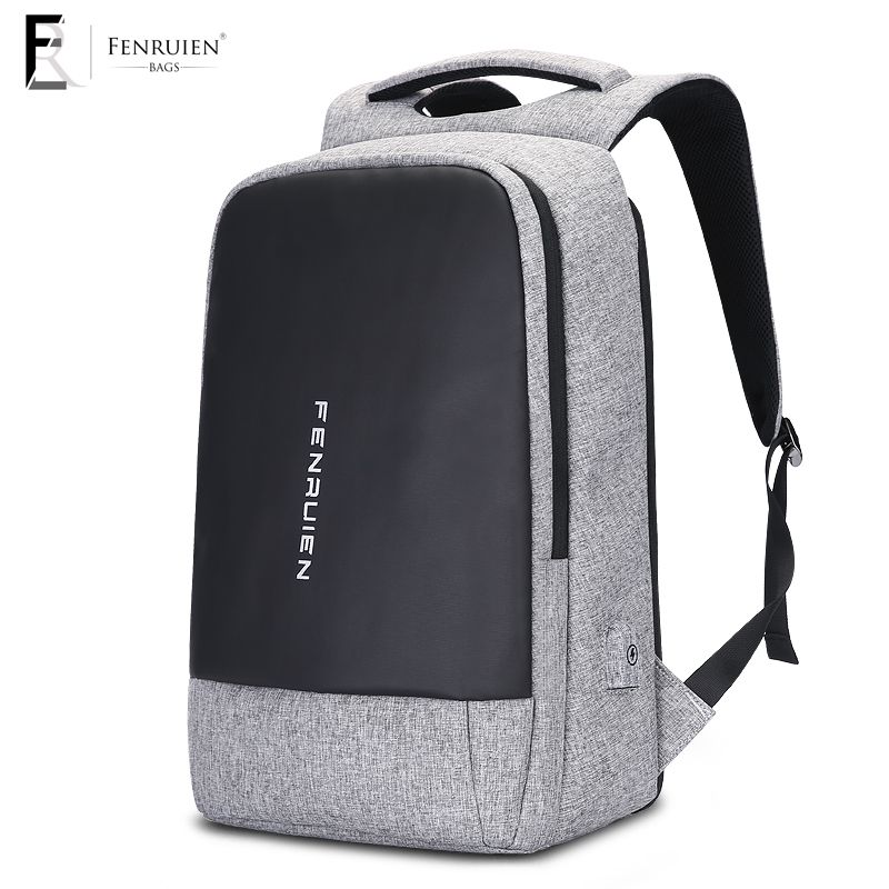 Fenruien Student Backpack 15.6 Inch Anti theft Usb Charging Laptop Backpack Unisex Large Capacity Men Backpack Waterproof Male