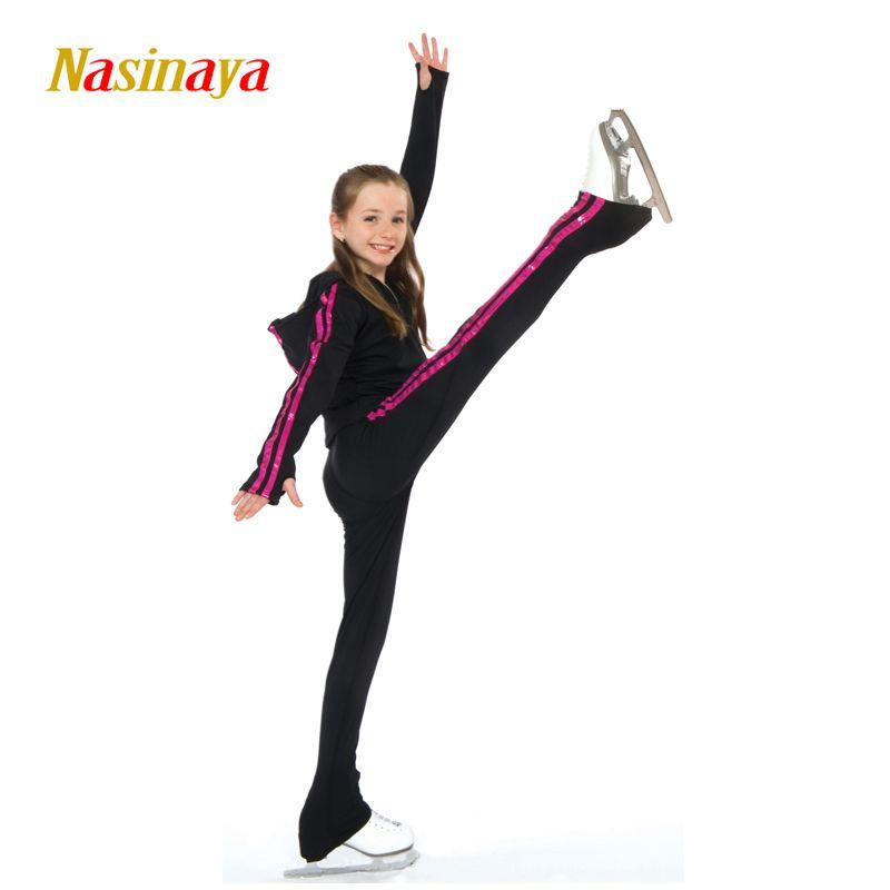 Maßgeschneiderte Kleidung Eislaufen Eiskunstlauf Anzug Hoodie Jacke Und Hose Roll Skater Warme Fleece Erwachsene Kind Mädchen Rosa
