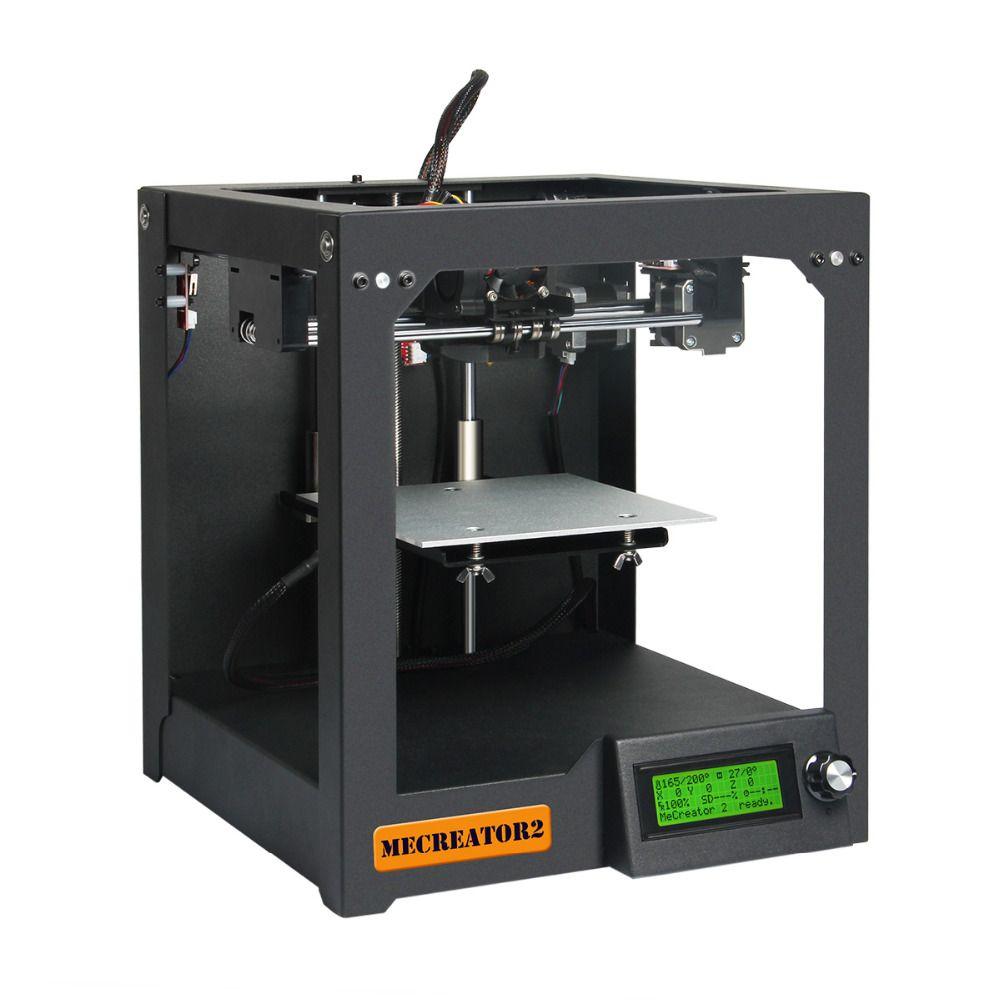 Geeetech 3D Desktop Printer MeCreator 2 DIY Assembly Machine Kit with LED 110V/220V Optional High Quality