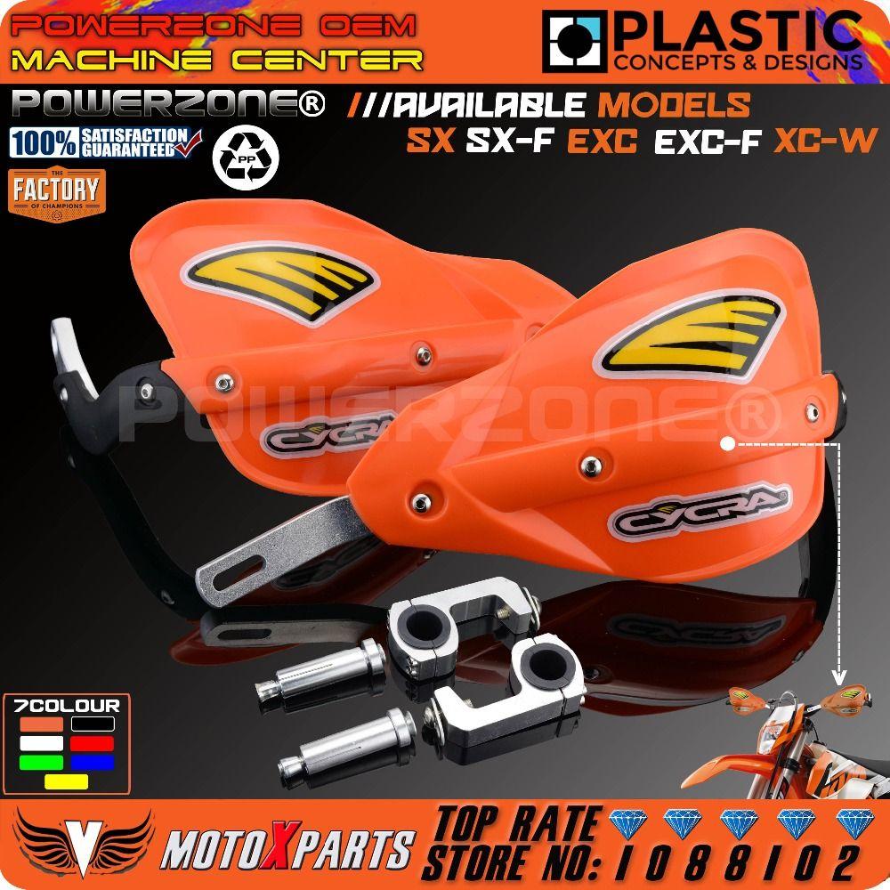 Powerzone Motorcycle Dirt Bike ATV Handlebar handguards Hand Guards For KTM SX SXF EXC XCW EXC F Husqvarna CRF YZF RMZ KXF KLX