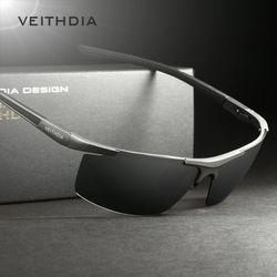 Veithdia Magnesium Aluminium Kacamata Hitam Terpolarisasi Pria Lapisan Cermin Matahari Kacamata Oculos Male Eyewear Aksesoris 6588