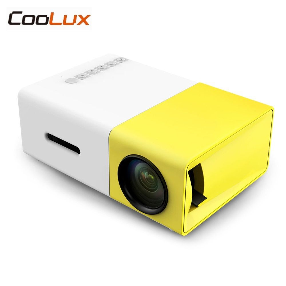 Coolux YG300 YG-300 Mini LCD LED Projector 400-600LM 1080p Video 320 x 240 Pixel Best Home Proyector