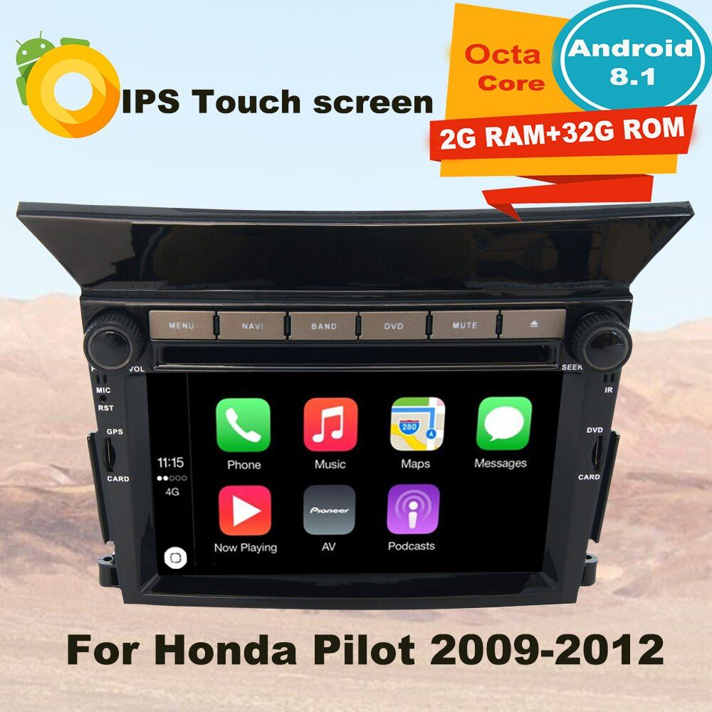 Unterstützung Apple Carplay Android 8.1 Auto Radio GPS Multimedia-Player Für Honda Pilot 2009 2010 2011 2012 Auto Navigation Stereo
