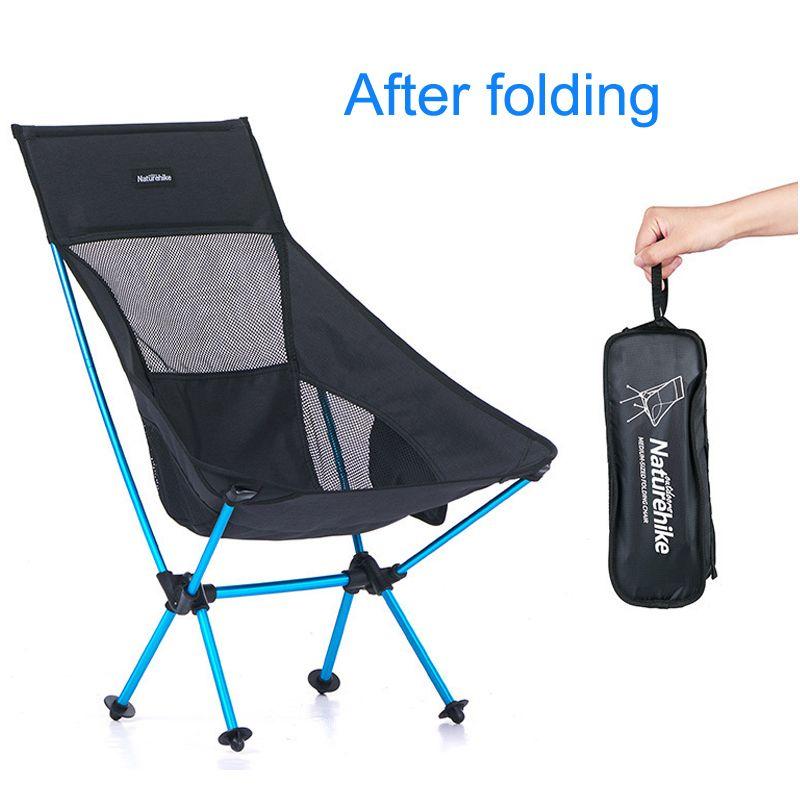 folding beach chair ultralight folding camp chair Moon Chair Breathable mesh fishing chair 600D Oxford cloth Aluminum alloy