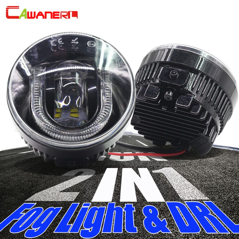 Cawanerl For Renault Megane Laguna Koleos Duster Scenic Logan Latitude Twingo Car LED Fog Light Daytime Running Lamp DRL Styling