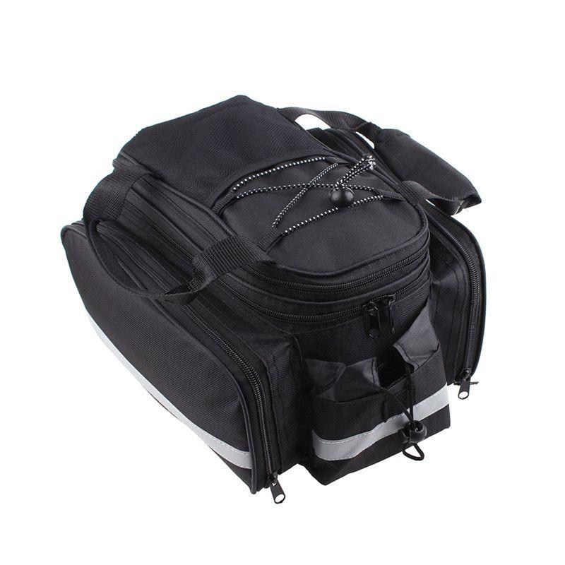 Nouveau sac de vélo étanche vélo siège arrière coffre sac à main arrière vélo sacoches noir livraison gratuite