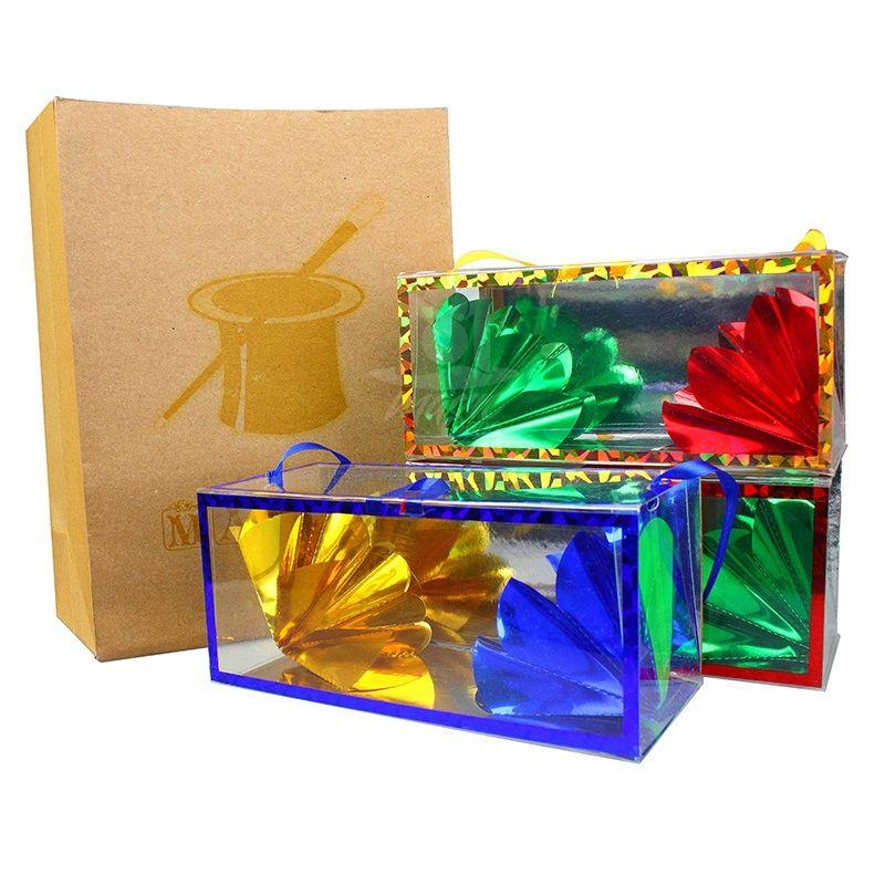 Sac en papier Super Delux de taille moyenne apparaissant fleur de la boîte vide tours de magie sac de rêve grande Illusion cadeaux magiques pour enfants