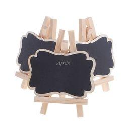 3 piezas de madera Mini pizarra soporte decoración de la tabla del banquete de boda etiquetas nueva Z07 nave de la gota