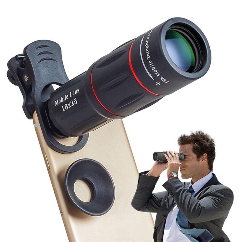 TOKOHANSUN 18X Téléobjectif Zoom Objectif portable 18x monoculaire télescope lentes avec selfie trépied pour iPhone Samsung Smartphones
