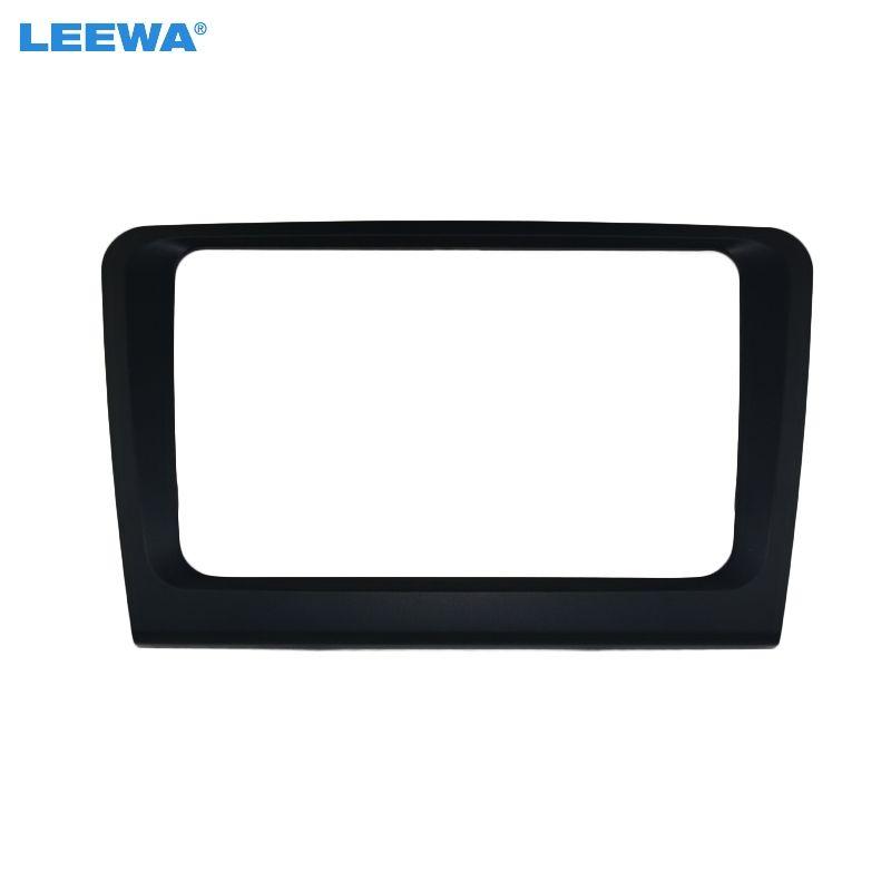 LEEWA Car 2DIN Refitting Radio Stereo DVD Frame Fascia Dash Panel Installation Kits Conversion For Skoda Superb(09~13) #CA3861