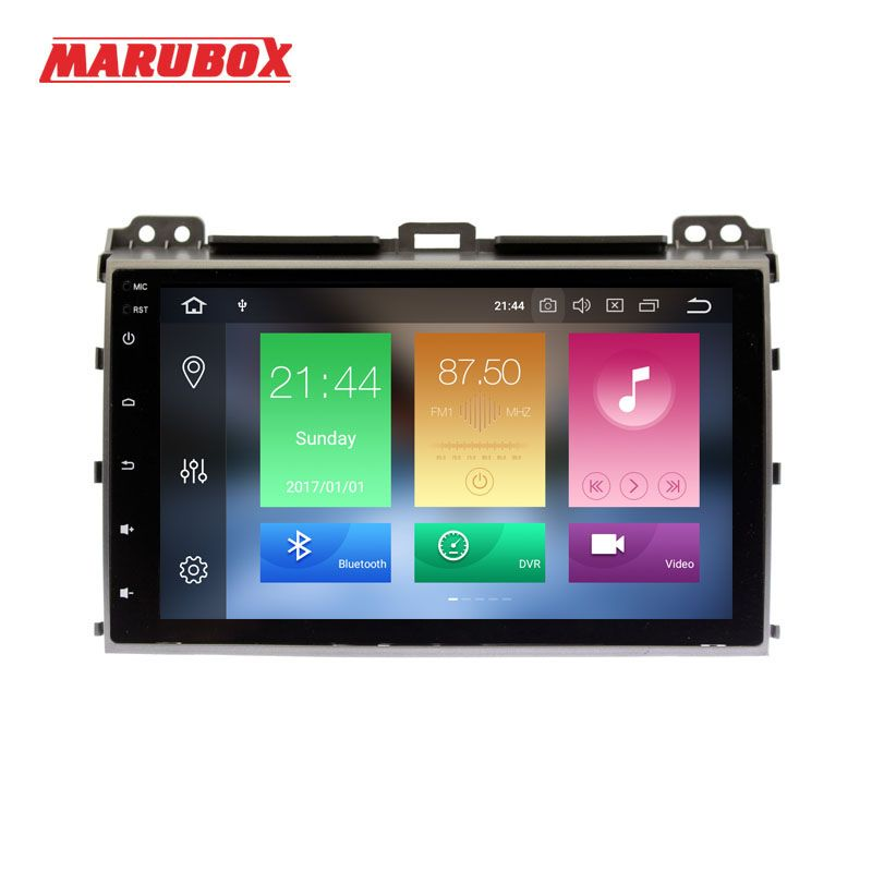 MARUBOX 2 Din Android 8.0 Eight Ocre 4GB RAM For Toyota Prado 120 Land Cruiser 9