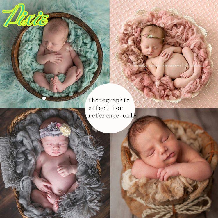 Pure Wool Filler Cushion Blanket Newborn Photography Background Props Studio Photos Aided Modeling Filler Basket Stuffer 200G