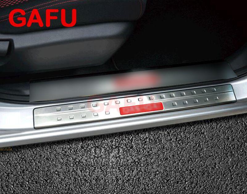 For Nissan Qashqai J11 Door Sill Scuff Plate Guards Door Sills Strip Protector Stickers Car Accessories 2015 2016 2017