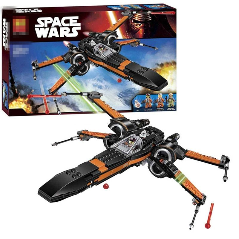 LOZ Star Wars Poe's X-wing Fighter Star Building Blocks Fighter Assembled Fighter Compatible With Legoinglys Star wars
