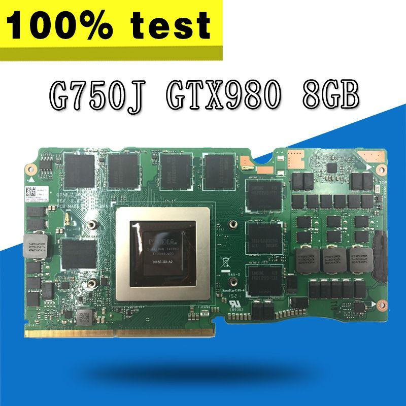G750J Video Card REV2.0 GTX980 8G For ASUS G750J G750JY G750JYA G750JYA-MXM Laptop motherboard G750J VGA CARD Graphic Video Card
