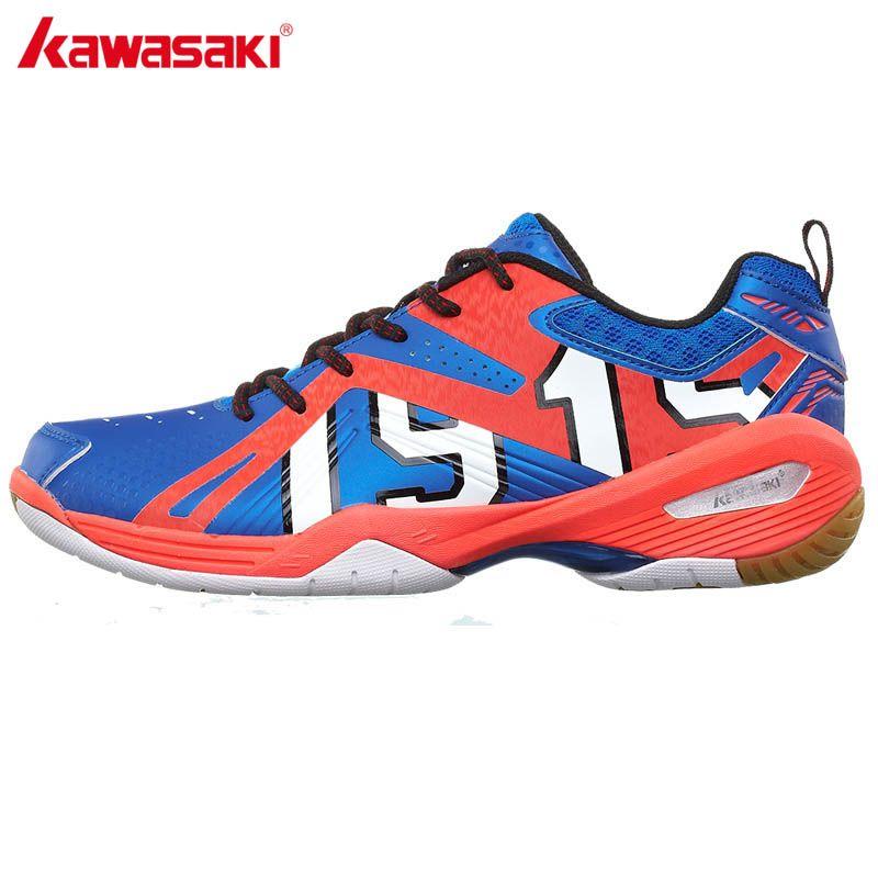 Kawasaki k-515 Encaje up men sneakers tenis cubierta pu cuero profesional Zapatillas de bádminton mujeres deporte envío regalo Calcetines