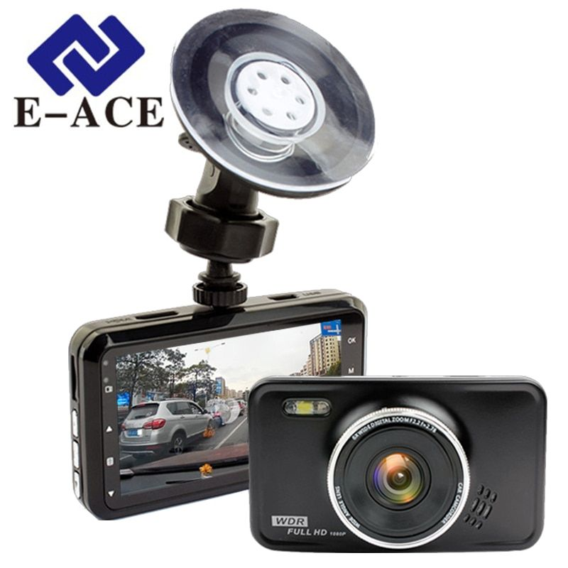 E-ACE Novatek Dashcam Car Dvr Auto Mini Camera Mirror Night Vision Full HD 1080P Video Recorder Carcam <font><b>Camcorder</b></font> Automotive Dvrs