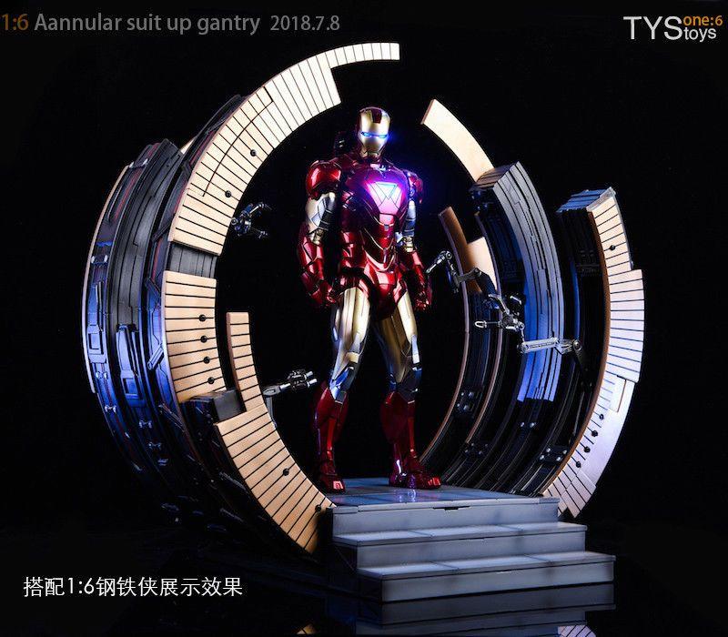 1/6 skala action-figur Szene zubehör Iron Man Mark VI Anzug-Up Gantry Stand F 12 Heißen Spielzeug MK6 Action Figur Ohne MK6