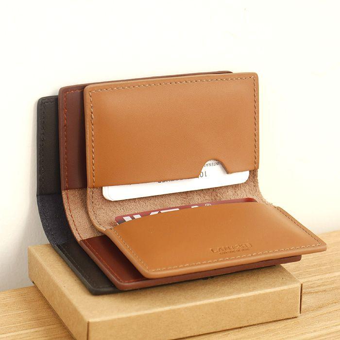 LAN hommes titulaire de la carte en cuir de marque petite carte de crédit cas de mode carte d'identité porte