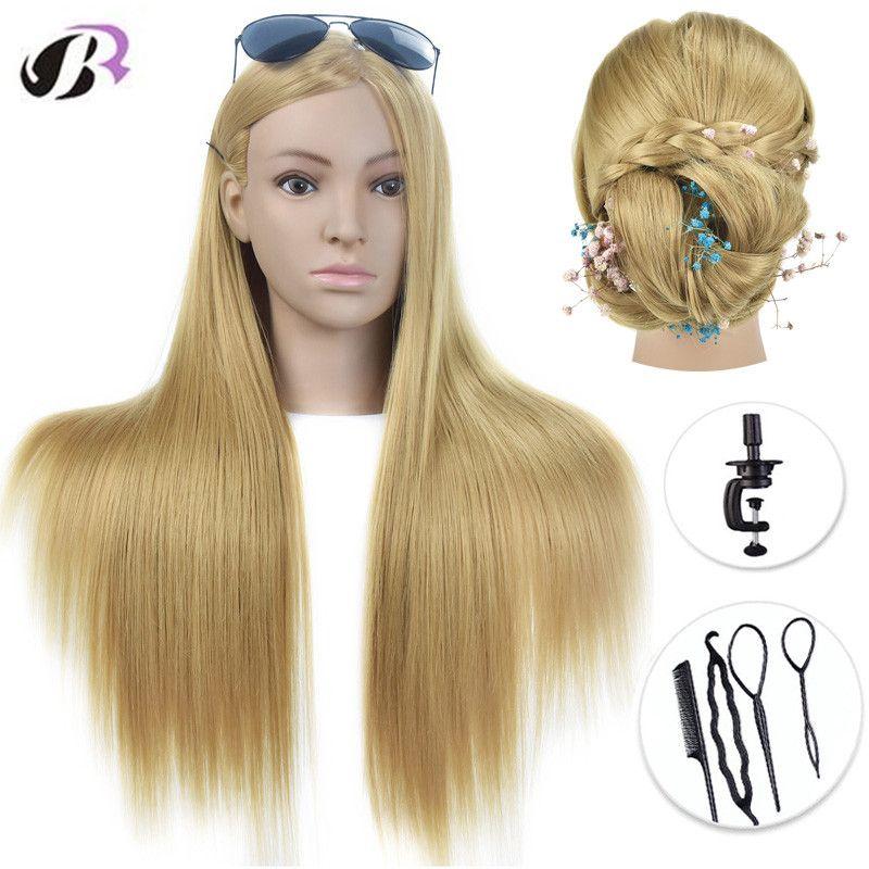 Offre spéciale tête de Mannequin 26 avec tête de Mannequin de coiffure dorée