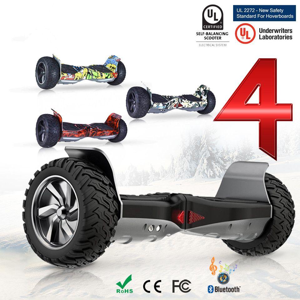 Hoverboard Off Road 8,5 zoll Über Bord Elektrische Skateboard Patinete Electrico Adulto Trottinette Electrique Adulte ES FR Aktien