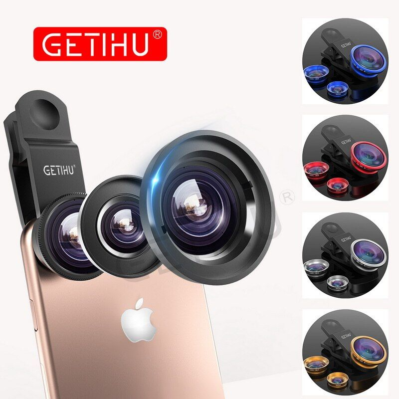 Universal 3 in 1 Weitwinkel Makro Fisheye-objektiv Kamera Mobile telefon Linsen Fish Eye Lentes Für iPhone 6 7 Smartphone Mikroskop