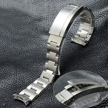 TJP 316L 20mm 21mm Stainless steel Watch Bands Strap with Frosted Deployment Clasp Buckle For Daytona Submarine ROLE Sub-mariner