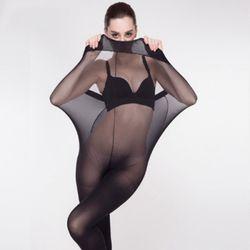 Super Élastique Magique Bas Nouvelles Femmes Sans Soudure Sexy Noir Mince Collants Dames Collants Bas Sheer Mesh Collant Femme