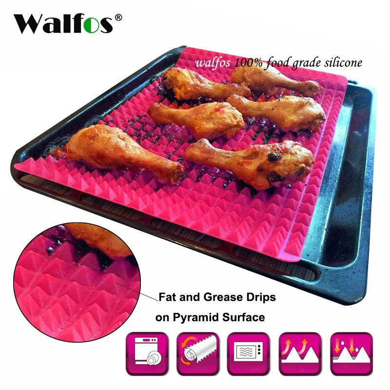 WALFOS qualité alimentaire pyramide ustensiles de cuisson casserole antiadhésive Silicone tapis de cuisson tampons méthode facile pour four plaque de cuisson outils de cuisine