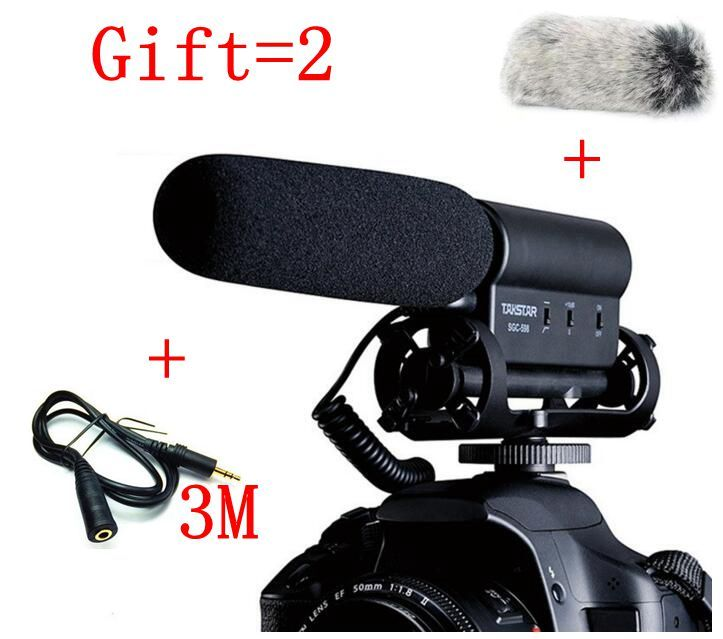 TAKSTAR SGC-598 Photography Interview on Camera FOR canon/NIkon/sony Microphone Hotography Interviews VideoMic