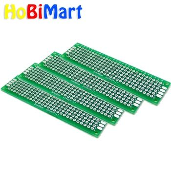 HoBiMart 10pcs Double Side Prototype PCB Bread board 2x8cm PCB Tinned Universal Breadboard 20mmx80mm Wholesale #nbp005