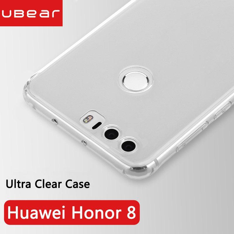 Huawei honor 8 couverture retour souple en silicone d'origine iBear 4 gb 5.2 pouces huawei honor8 clair fundas ultra mince 8 coque honor 8 cas
