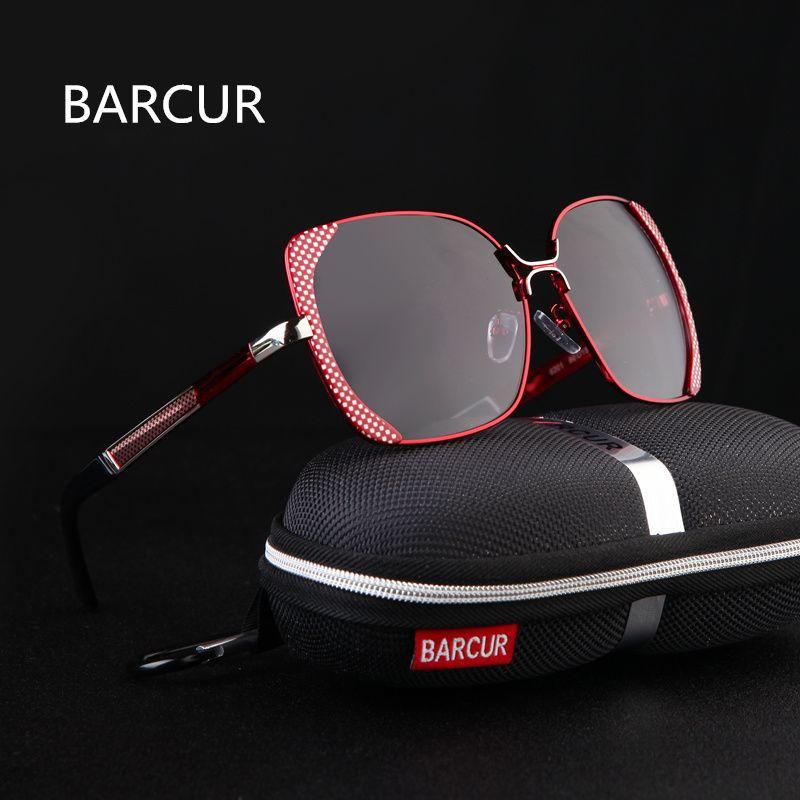 BARCUR Female Sunglasses Women Brand Designer Polarized Sunglasses Summer HD Polaroid <font><b>Lens</b></font> Sun Glasses for Women Shades