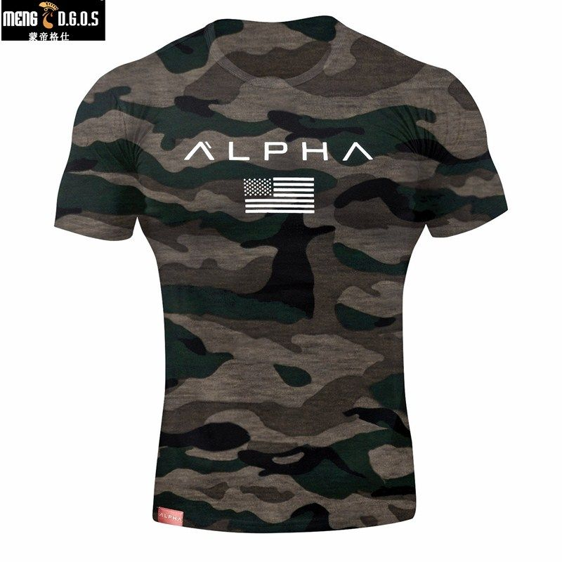 2018 Summer new Fashion Casual t Shirt Fitness Bodybuilding male Short sleeves Slim fit cotton Shirts Tee tops clothes