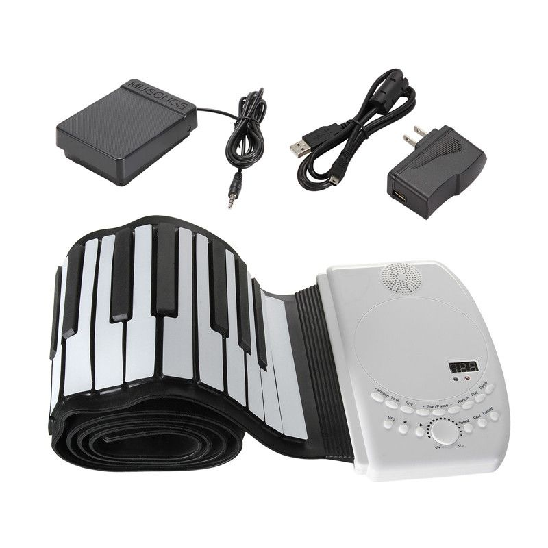Zebra 88 Key Flexible Foldable Piano Portable Electric Digital Roll up Piano For Musical Instrument Lover Gift Accessories