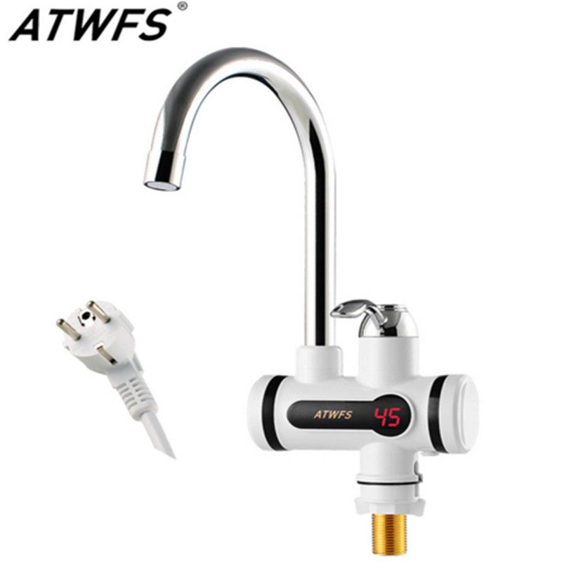 Electric Tankless Hot Water Tap Instant Hot Water Heater Heating Faucet Instantaneous Water Heater for Kitchen and Bathroom