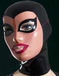 Neu kommen mode schwarz Und Haut latex haube fetisch gummi maske Anpassen Größe Service Anpassen service