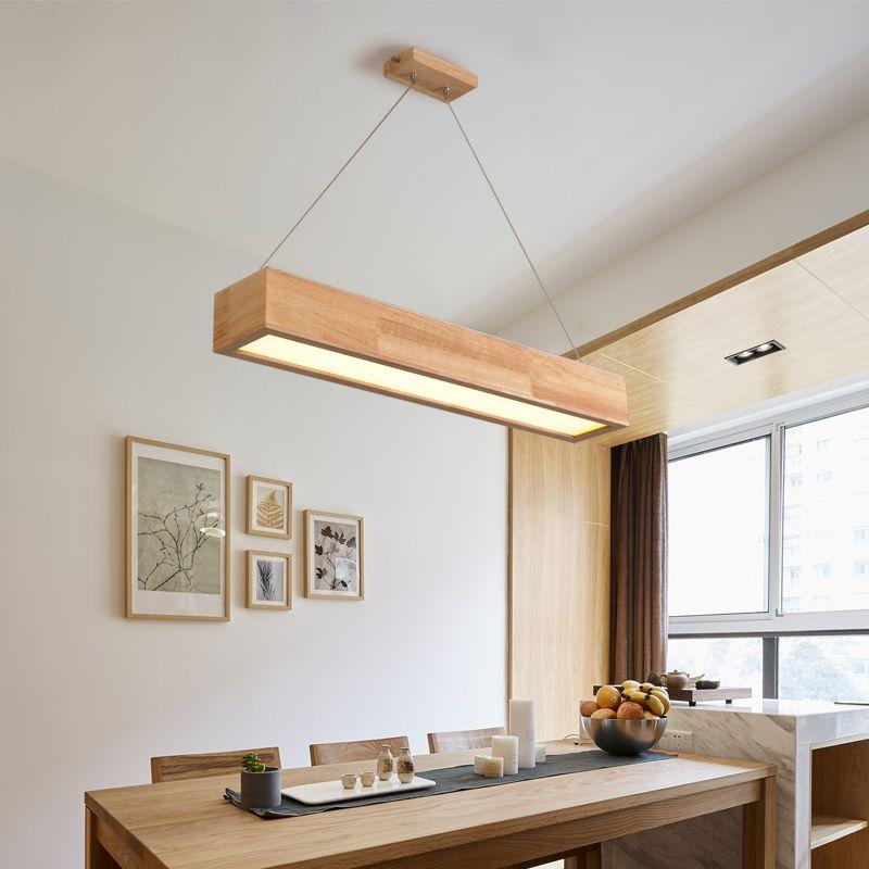 A1 Nordic pendant lights solid wood lamp bar simple LED wood NEW restaurant lamp office pendant lamp MZ155