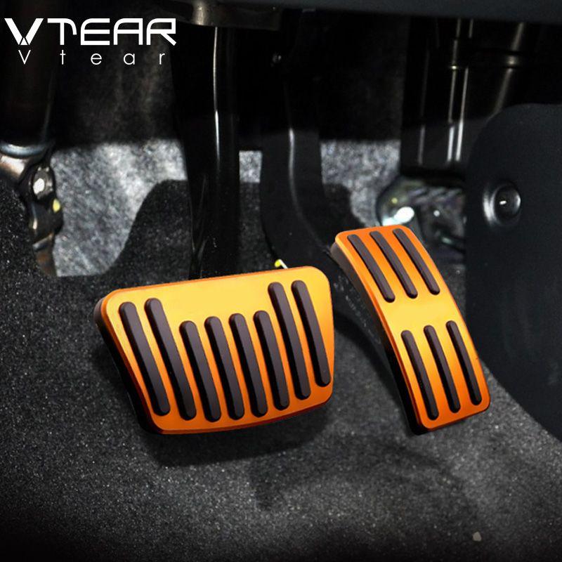 Vtear For Hyundai creta ix25 2017 car accelerator Oil footrest Pedal Plate Clutch Throttle Brake Treadle Interior Accessories