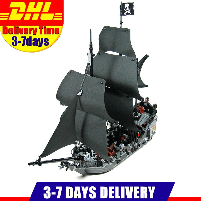 In Stock DHL Free 2018 804PCS LEPIN 16006 Pirates of the Caribbean The Black Pearl Ship Building Model Block Set Toys Clone 4184