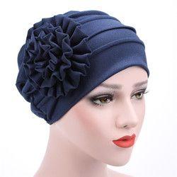 Chapeaux de 2017 Femmes Printemps Été Floral Beanie Chapeau Musulman Extensible Turban Chapeau Cap Perte De Cheveux Chapeaux Hijib Cap