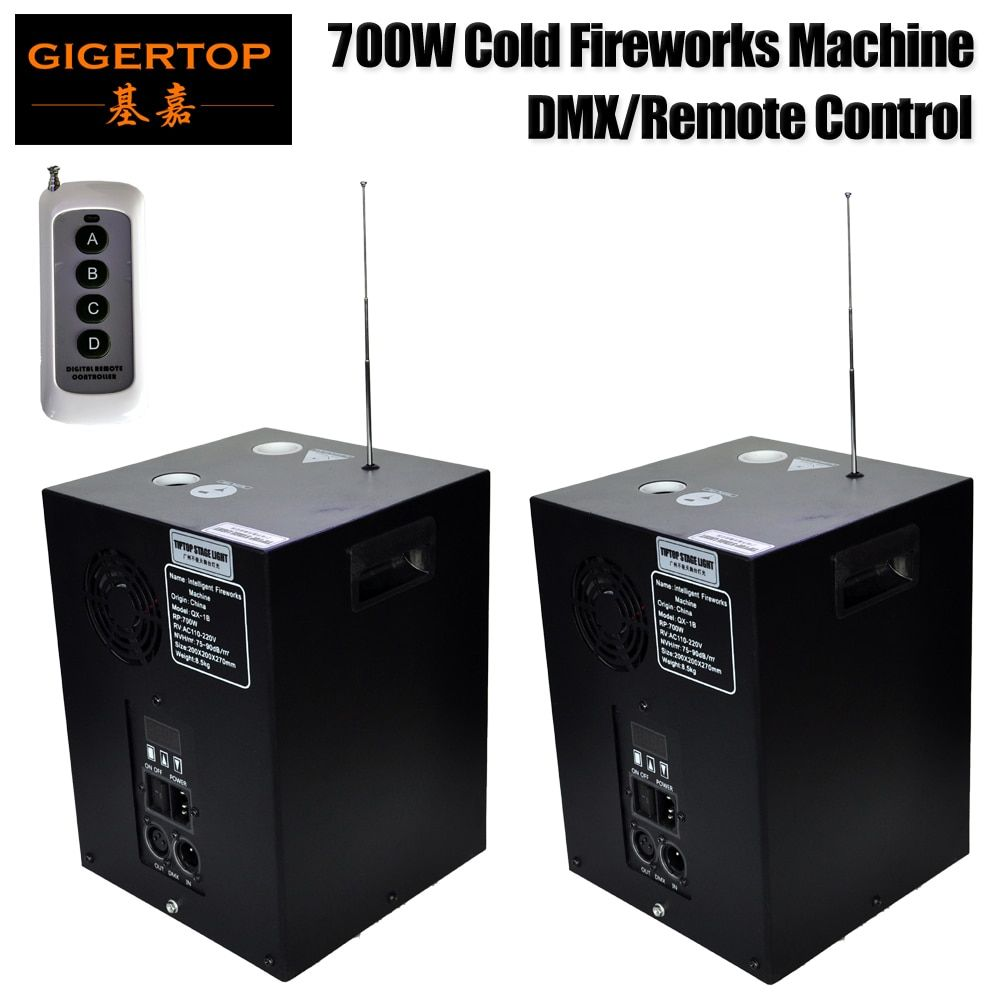 Freeshipping 2 Unit Flash Sparkler Machine Work By Titanium Powder Indoor Outdoor No Hot/No Fire 3PIN DMX Socket In/Out 110/220V