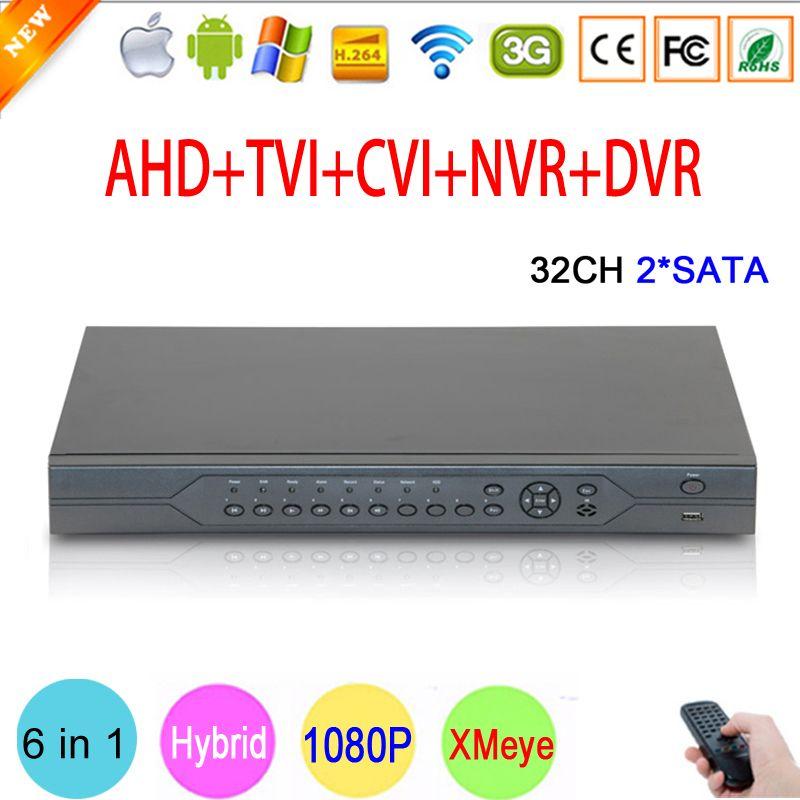 1080 p, 960 p, 720 p, 960 H CCTV Kamera HI3531A 32CH 32 Kanal 6 in 1 Koaxial Hybrid NVR CVI TVI AHD DVR Überwachung Video recorder