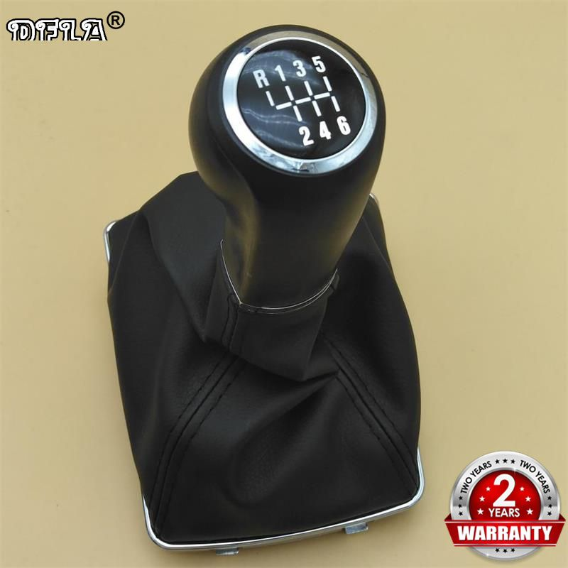 For VAUXHALL OPEL ASTRA H (04-10) CORSA D(06-14) Car-styling 6 Speed Automatic Car Gear Shift Knob Leather Boot