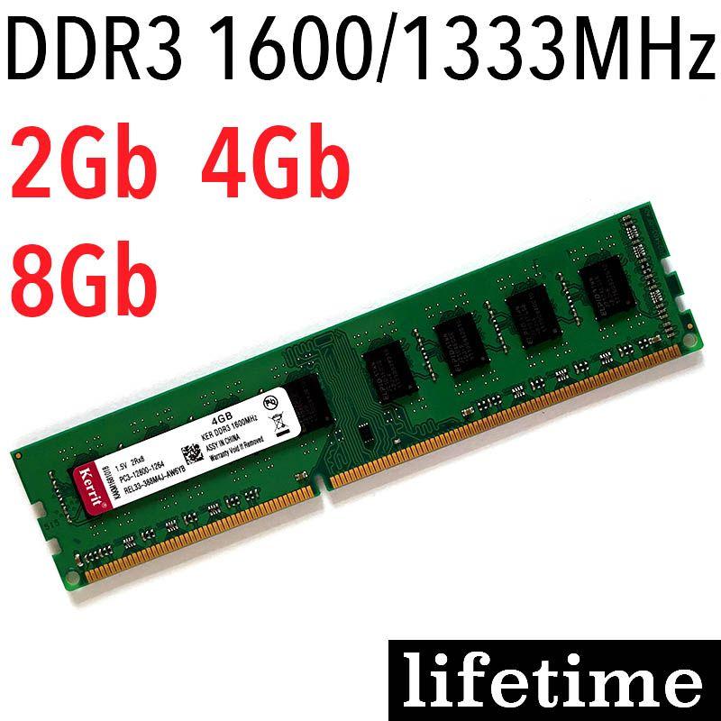 DDR3 RAM 4 Gb ddr3 8 gb mémoire 8 Gb 4 Gb 2 Gb 1600 Mhz 1333 Mhz/pour AMD pour Intel memoria ddr3 1600 1333 2G-garantie à vie