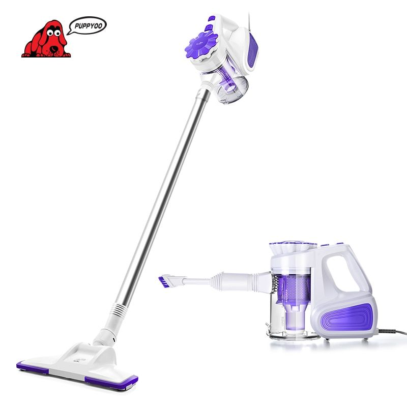 PUPPYOO Home Stick Vacuum Cleaner Handheld Dust Collector Household Aspirator New <font><b>Arrival</b></font> WP526
